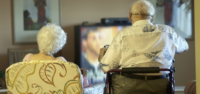 casal na tv